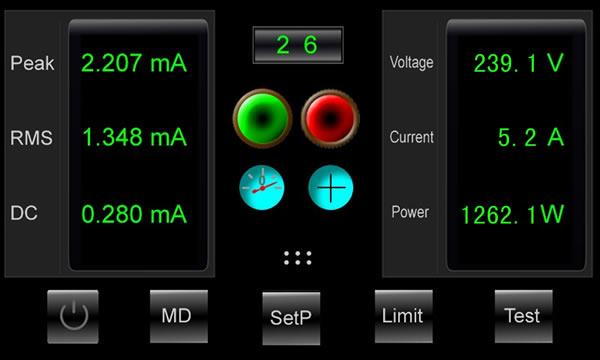 1-2007) 医疗电气设备*部分              数据显示输出:dc (直流)