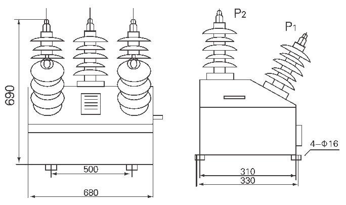高压预付费计量控制装置YJK—10(6)