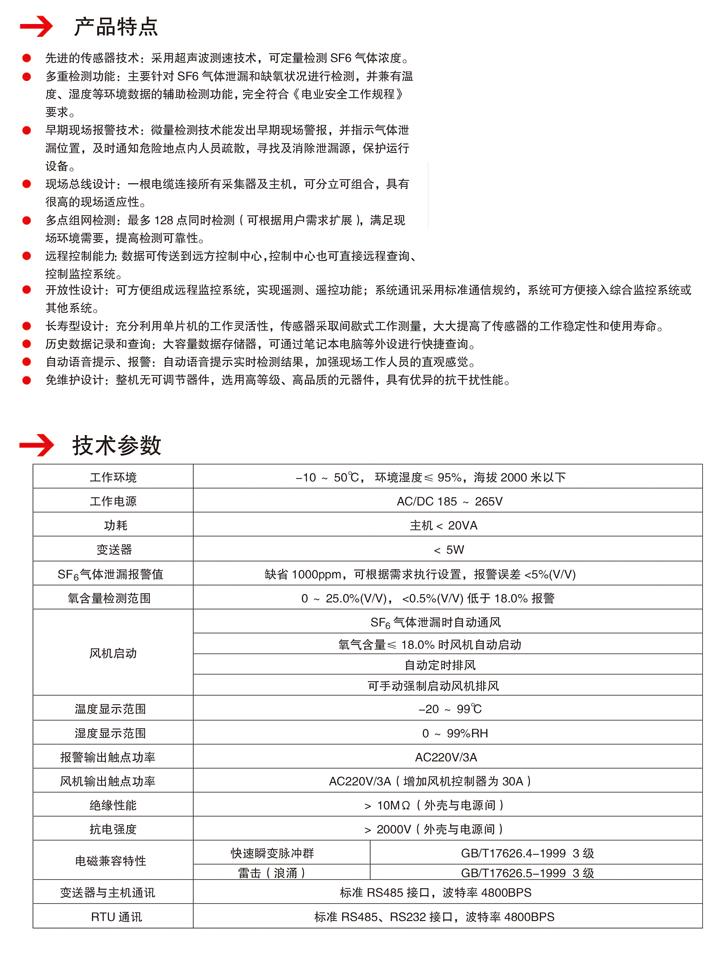 SG6000型SF6泄露定量报警系统
