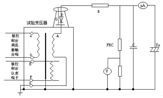 由于是交直流两用变压器,应把高压硅堆短路杆从套管中抽出,使变压器为