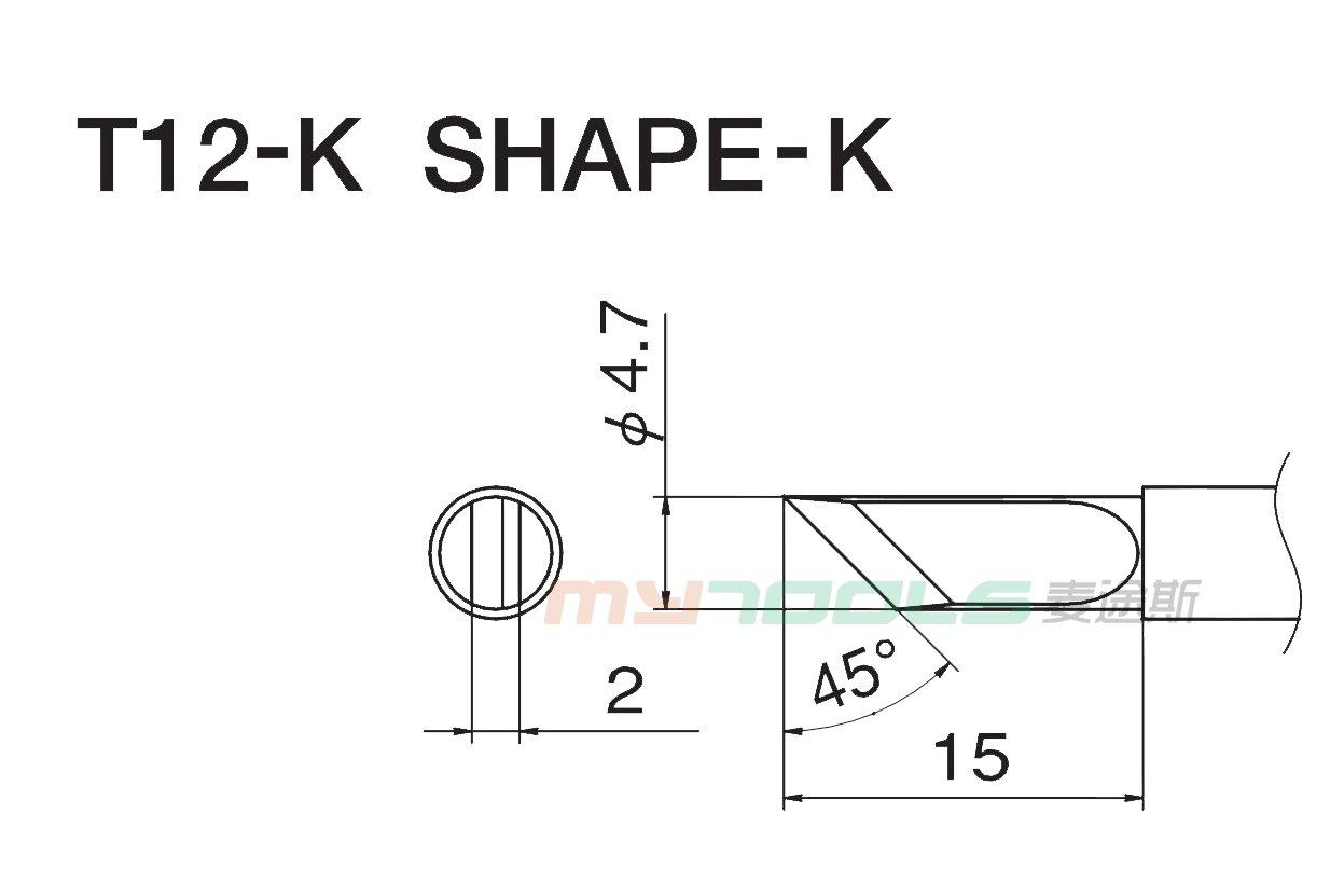 白光烙鐵頭T12-K