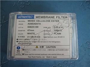 A045A047A ADVANTEC混合纤维素酯(MCE)SDI仪专用测试滤膜膜片