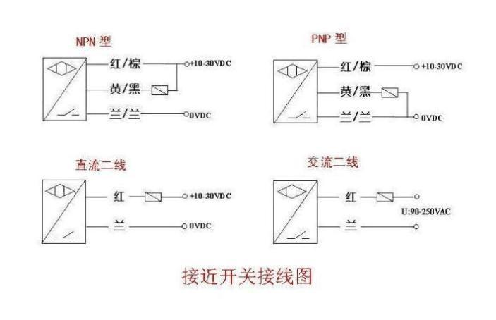 用pnp型接近开关供信号做一个使微型继电器吸合延时0.