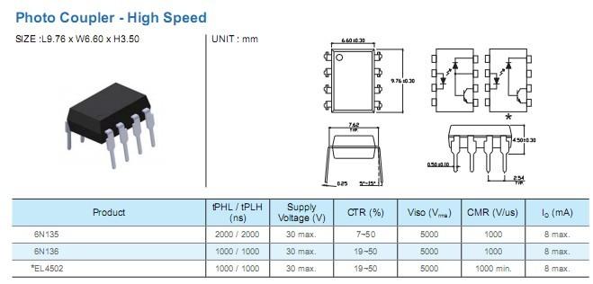 8pin光电藕合器