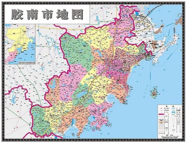 青岛市胶南市地图全图