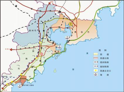 山东青岛胶南地图