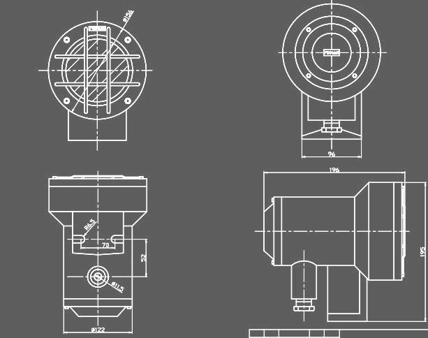 DGY9 LED防爆机车灯产品特色: 1.免维护:解决传统光源易坏频繁更换的问题,降低了人工及材料的维护成本; 2.安全性能高:铸铁外壳,精心加工,LED光源自身功率小,只有9W,产生的热量小,产品外表最高不会超过50度,不会引起可燃气体的爆炸; 3.使用寿命长:理论使用寿命5万小时以上,具有抗频繁开关的特性; 4.
