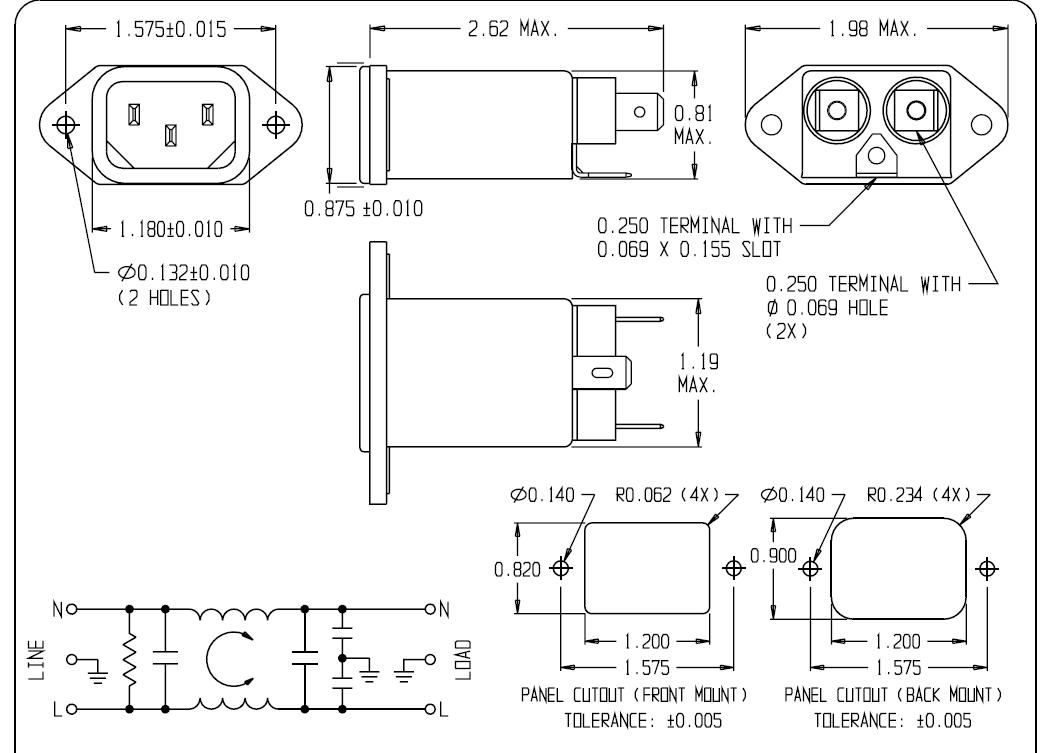 10ec1电源滤波器