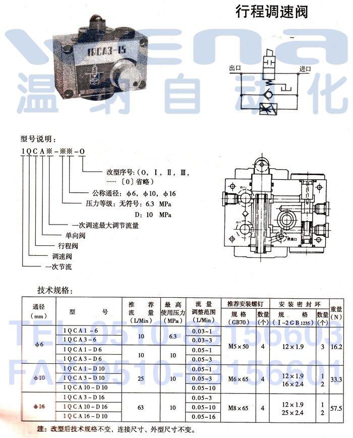 1qca1-6,1qca3-6,1qca1-d6,行程调速阀,行程调速阀生产厂家,wena行程图片