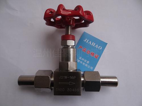 j23w-64r,pn64,dn10外螺纹针型压力仪表截止阀,气源开关阀门 j23w-64p