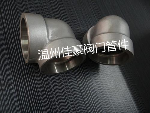 sch80,dn15承插对焊接式高压45°,90°度弯头,液压管接头 gb/t14383图片
